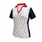 Monterey Women's Top #2098 Red/WH/Blue